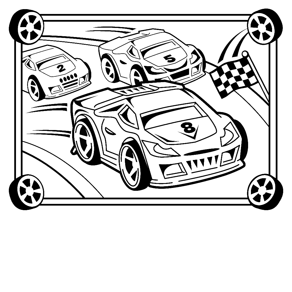 12 Race Car Coloring Pages