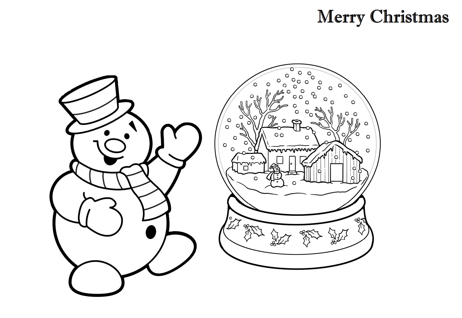 Faerlmarie Coloring Pages 35 Christmas Snow Globe