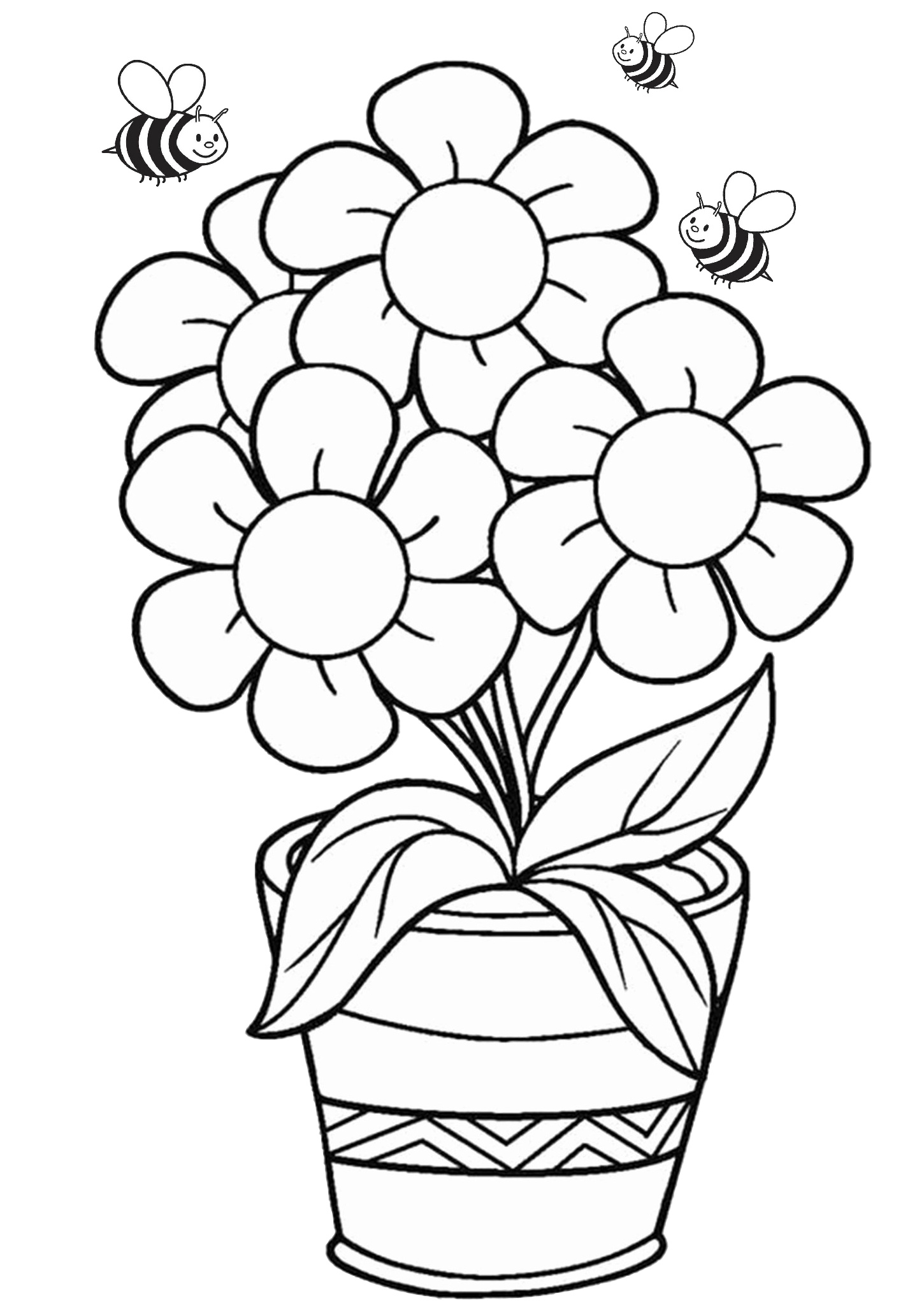 36 Printable Flower Coloring Pages For Adults Amp Kids