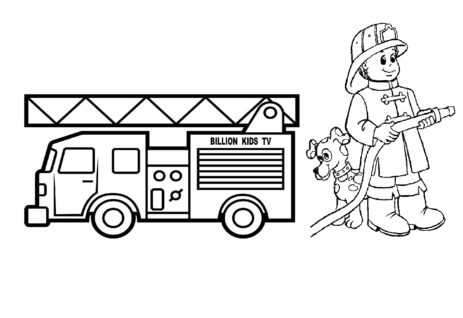 17 Fire Truck Coloring Pages