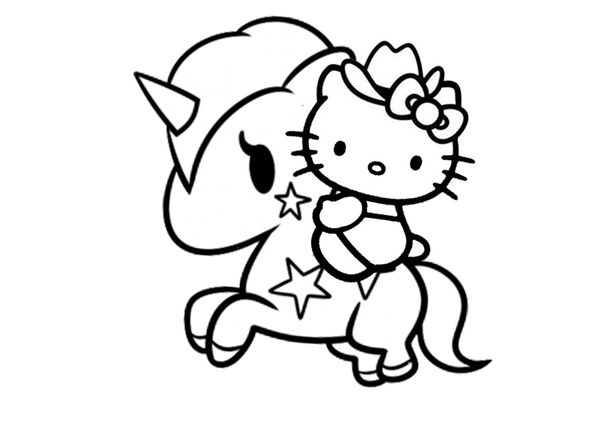 Hello Kitty Printables Coloring Pages Novocom Top