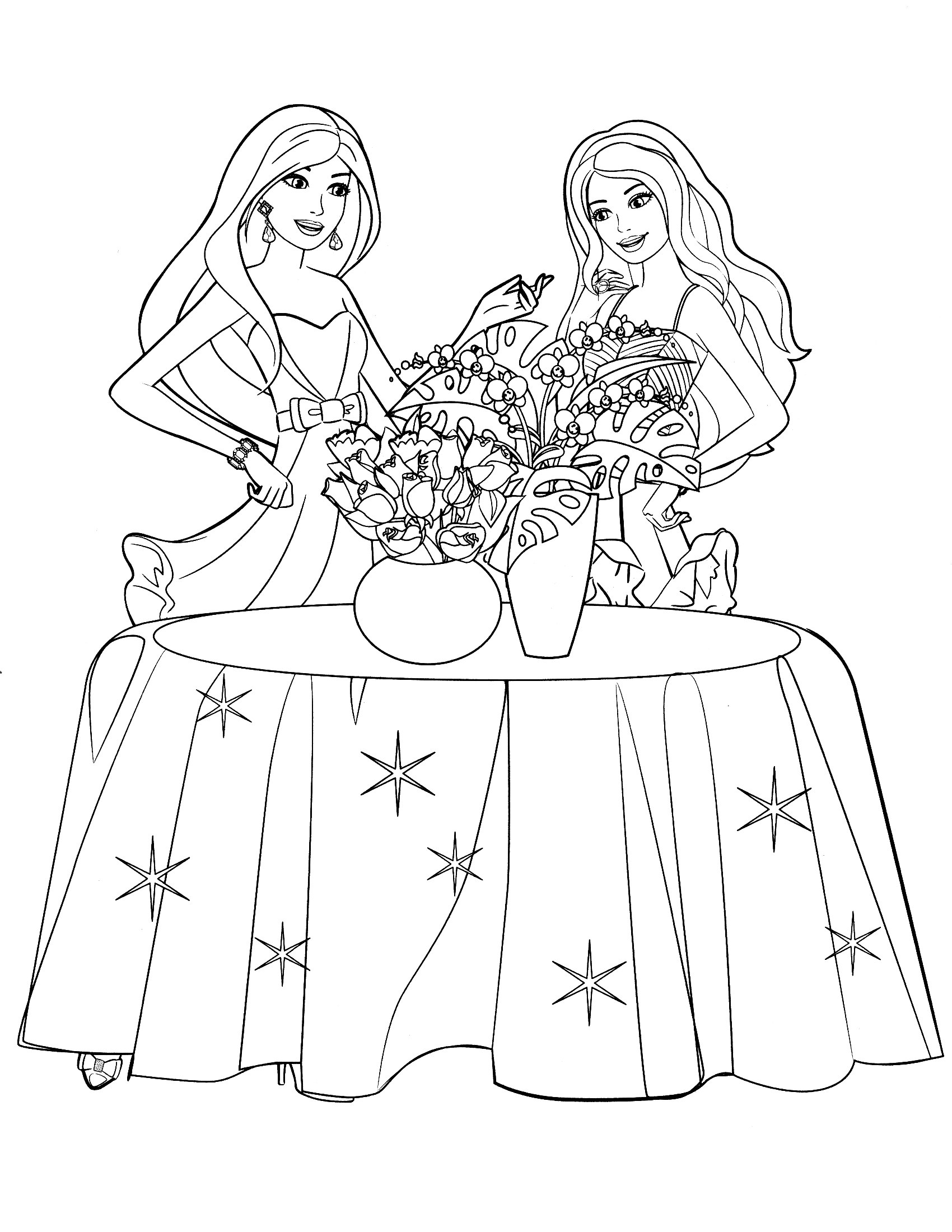 Barbie Makeup Coloring Pages Coloring Page