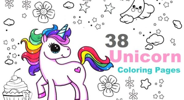 printable unicorn coloring pages # 10