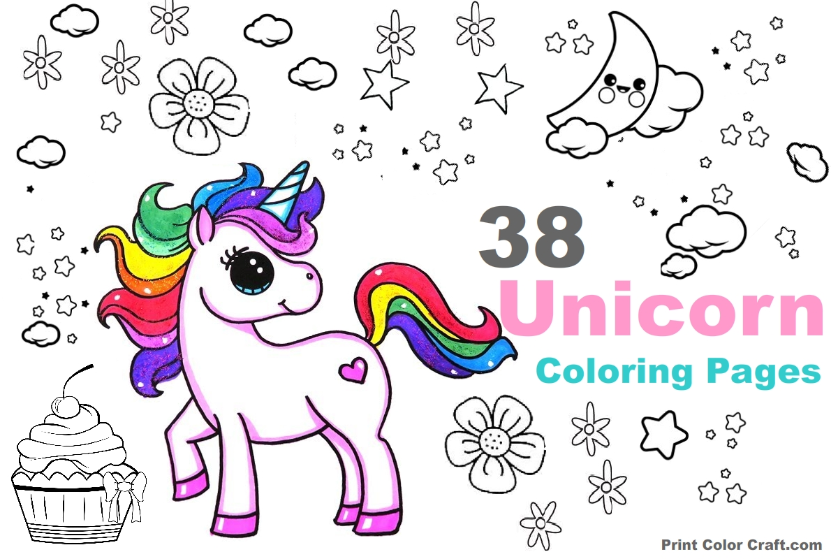 58 Adorable Unicorn Coloring Pages For Girls And Adults