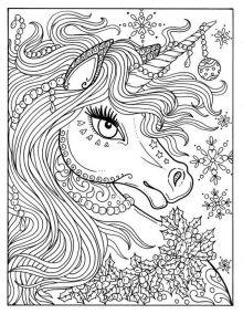 Unicorn Cute Mandala Coloring Pages