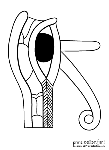 Ancient Egyptian Eye of Horus design