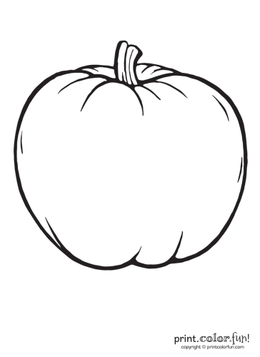 blank pumpkin coloring pages A big blank pumpkin to color coloring page   Print. Color. Fun! blank pumpkin coloring pages