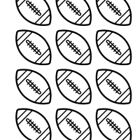 Free football coloring pages and party printables: Footballs & helmets