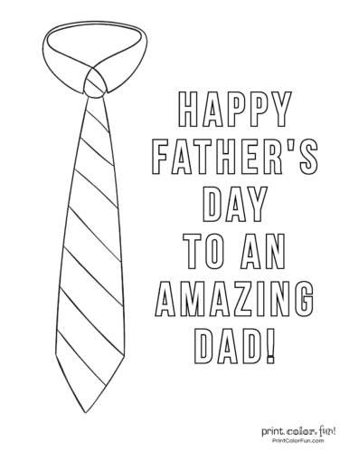 16 Free Printable Father S Day Coloring Pages Print Color Fun