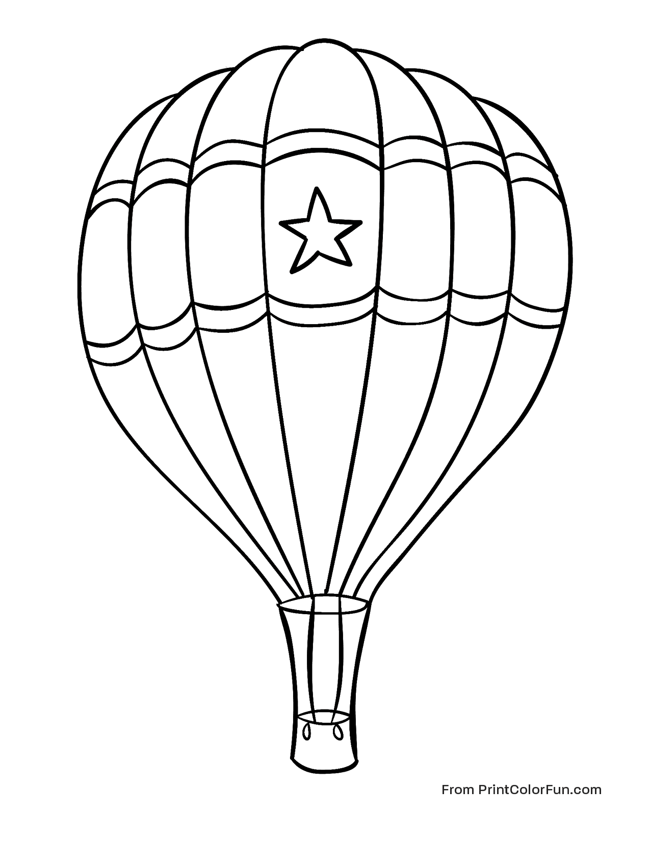 Hot Air Balloon Coloring Pages To Print Out Pictures To Pin