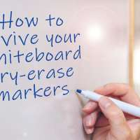 How can you revive whiteboard dry-erase markers?