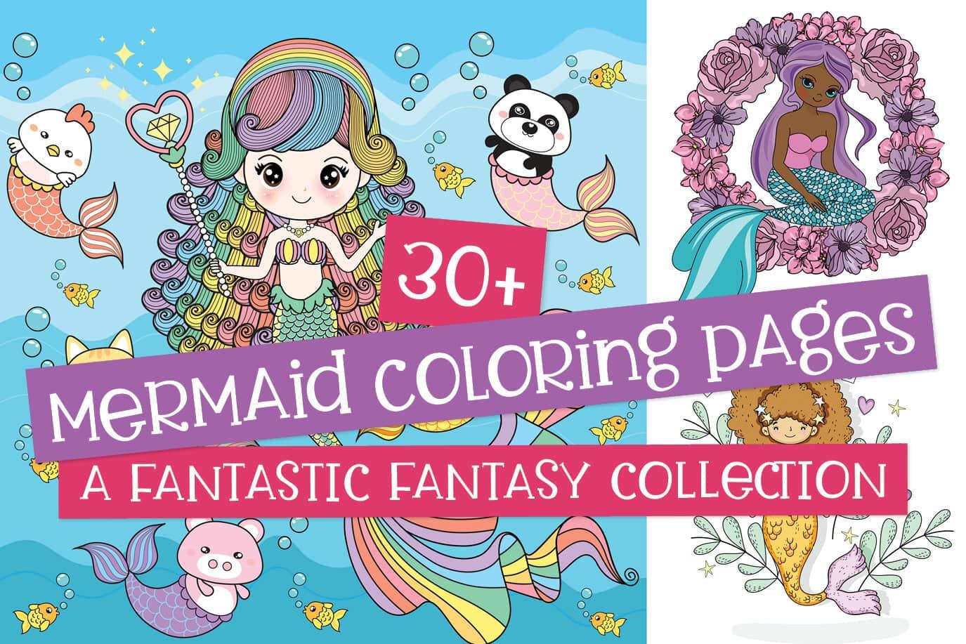 30 Mermaid Coloring Pages Cute Free Fantasy Printables Print Color Fun