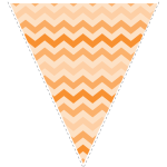 orange zig-zag party decoration flag