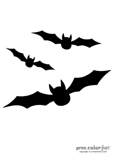 Pumpkin-carving-stencil--3-flying-bats