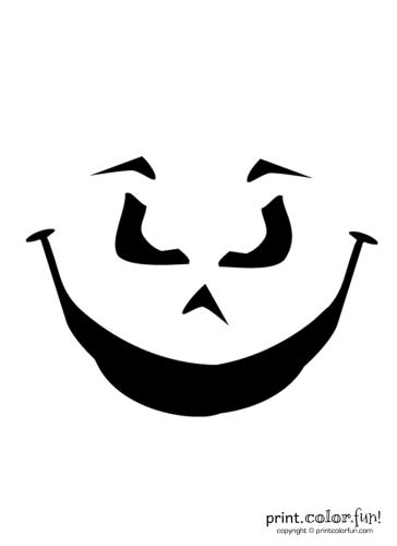 Pumpkin-carving-stencil--evil-grin