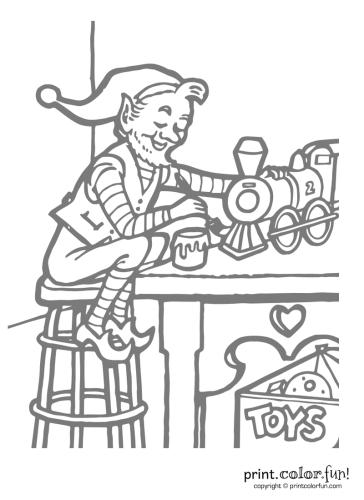 Santa's-elf-working-on-toys