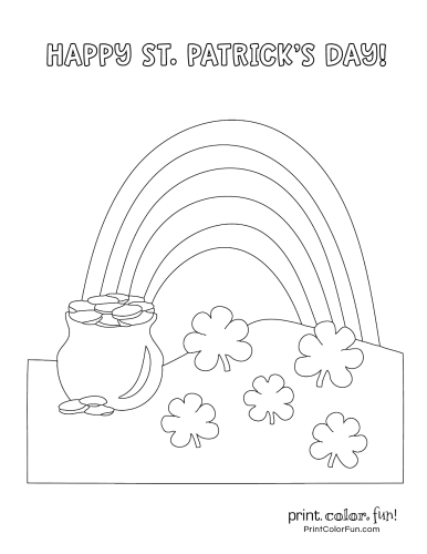 St Patrick's Day coloring page to print (1)