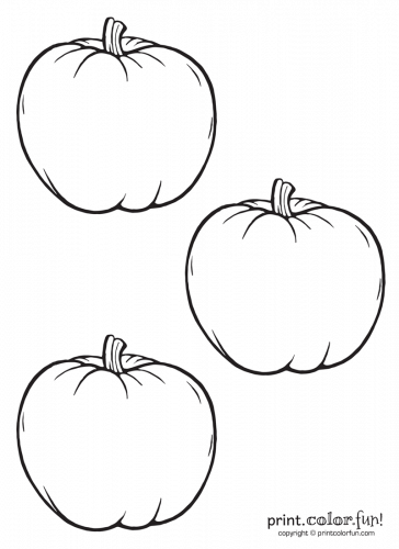 3 Little Pumpkins Coloring Page Print Color Fun