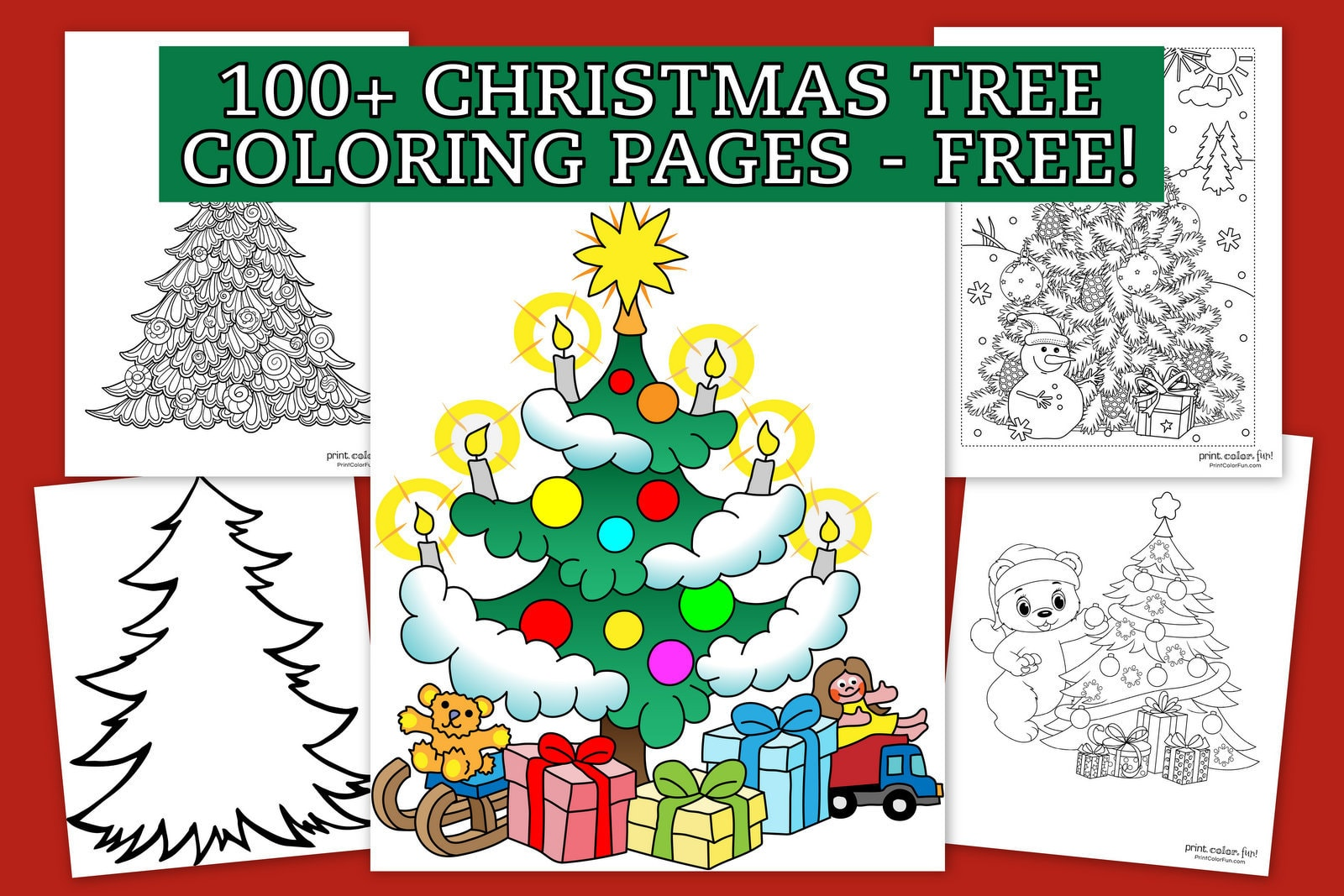 Top 100 Christmas Tree Coloring Pages The Ultimate Free