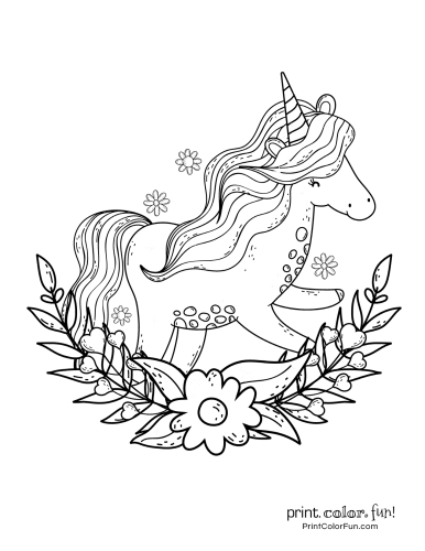 Unicorn coloring pages from PrintColorFun com (11)
