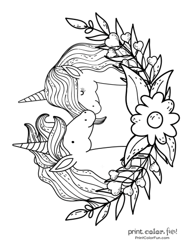 Unicorn coloring pages from PrintColorFun com (12)