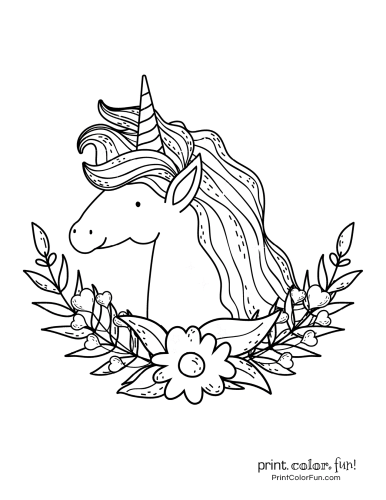 Unicorn coloring pages from PrintColorFun com (14)