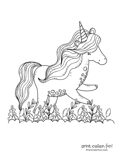Unicorn coloring pages from PrintColorFun com (8)