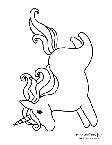 Unicorn printable coloring pages10