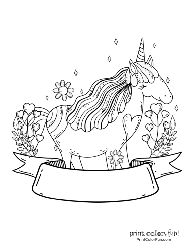 Unicorn printable coloring pages2