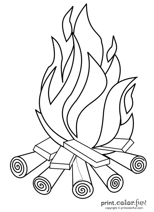 Campfire - Print Color Fun!