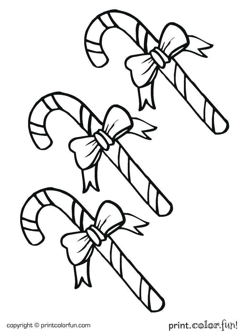 candy canes coloring page print color fun
