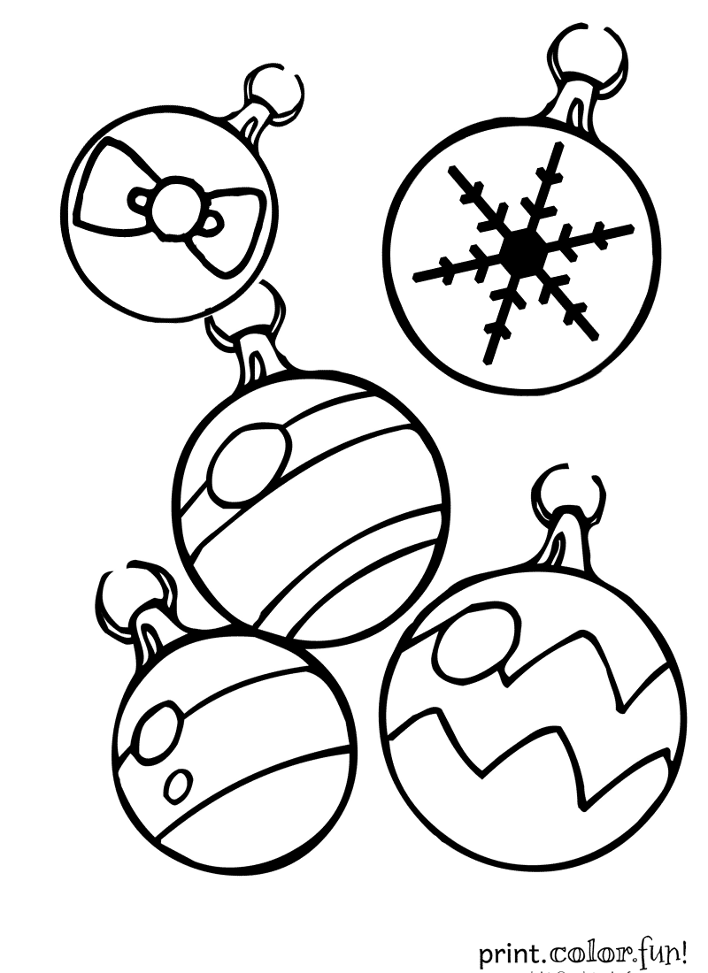 christmas bulbs colouring pages page 2