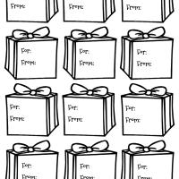 Gift box gift tags