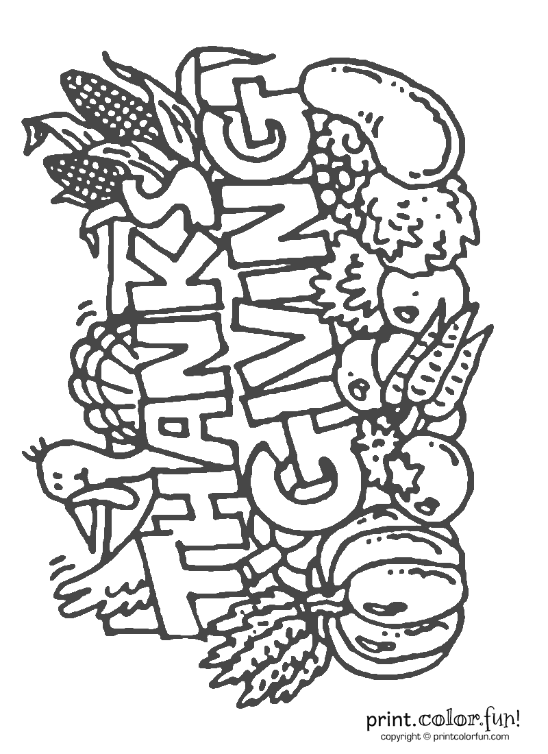 Holidays archives print color fun! free printables, coloring Crayola Thanksgiving Coloring Pages Funny Thanksgiving Coloring Pages Happy Thanksgiving Signs Printable