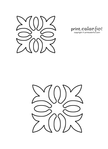 Hawaiian quilt stencil