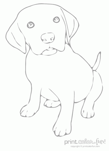 the low ink puppy printable