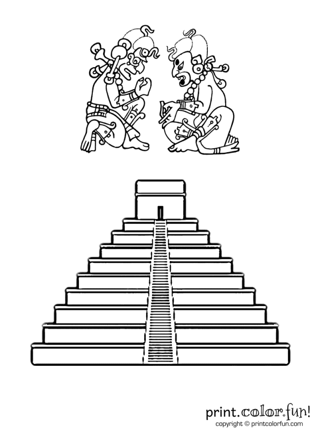 mayan - Print. Color. Fun! Free printables, coloring pages, crafts