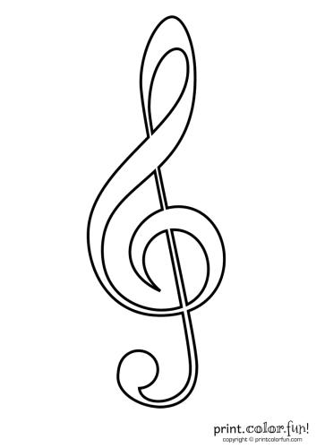 Treble clef coloring page - Print. Color. Fun!
