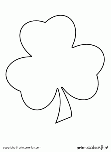 shamrock for st patrick 39 s day coloring page print color fun