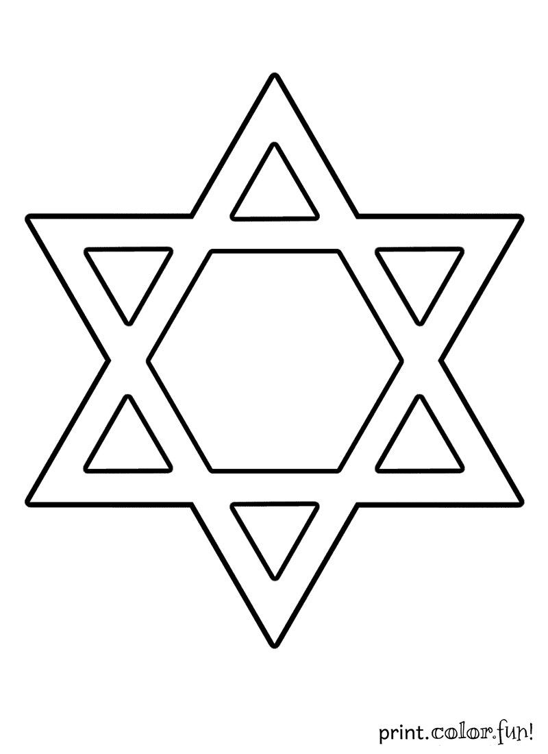 Star of david hanukkah coloring pages