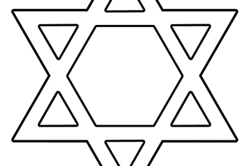 Passover archives print color fun free printables for Star of david coloring page