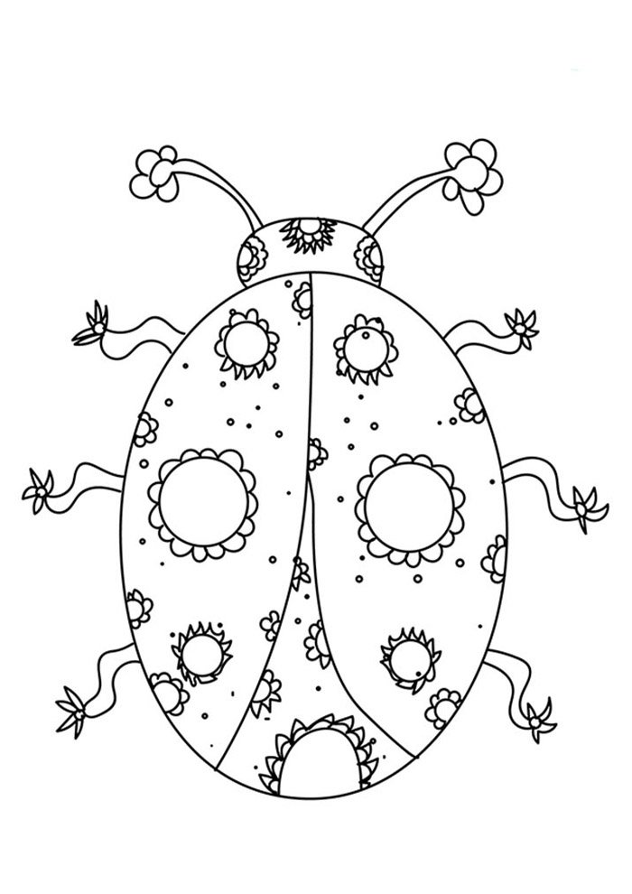 18 Ladybug Coloring Pages Coloring Pages
