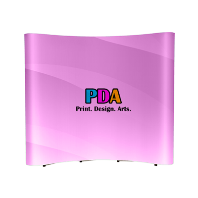 Mini Pop Up Stands Exhibition Systems 3x3 (Curve) 2