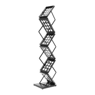 Brochure Stand A4 A5 Size Zig Zag Stand Black - Side
