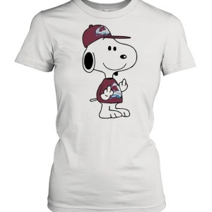 Snoopy Colorado Avalanche NHL Double Middle Fingers Fuck You  Classic Women's T-shirt