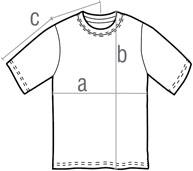 76000B size 香港印衫|印Tee|印T-Shirt|印T公司@PrinTee.hk