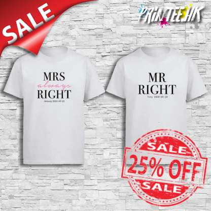 Mr Mrs always Right Cover Sales