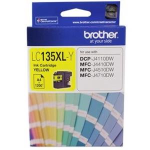 brother lc135xl yellow ink cartridge