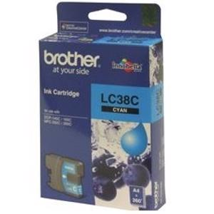 brother lc38 cyan ink cartridge