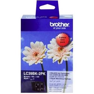 brother lc39 black twin pack ink cartridge